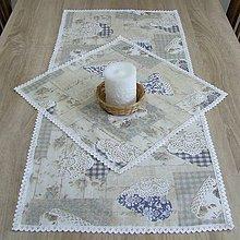 Úžitkový textil - Pastelovo romantické - obrus obdĺžnik 93x42 - 8566866_