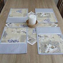 Úžitkový textil - Pastelovo romantické - prestieranie 25x35 - 8567097_