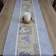 Úžitkový textil - Pastelovo romantické - stredový obrus 128x38 - 8567204_