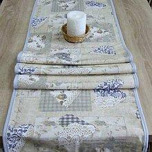Úžitkový textil - Pastelovo romantické - stredový obrus 155x42 - 8567387_