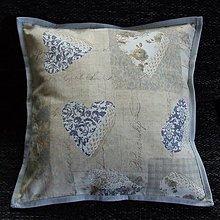 Úžitkový textil - Pastelovo romantické - vankúš(2) 40x40 - 8567600_