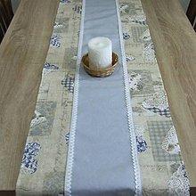 Úžitkový textil - Pastelovo romantické - stredový obrus 130x40 - 8568121_