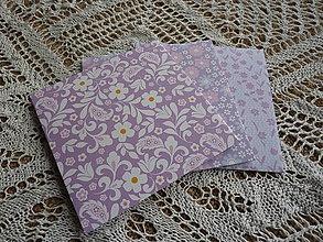 Papiernictvo - 3-dielna sada CD obalov fialková - 8565360_