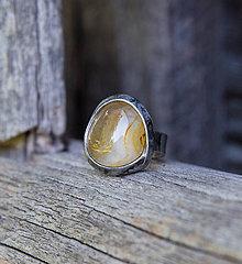 Prstene - Žltý achát - prsteň - 8568037_