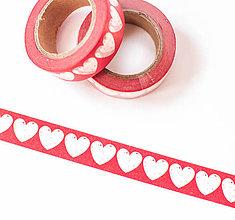 """Papier - WASHI / papierová páska na tvorenie """"srdce kreslené"""" - 8568263_"""
