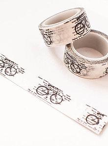 "Papier - WASHI / papierová páska na tvorenie"" retro bike"" - 8568701_"