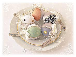 Dekorácie - Vianočné gule patchworkové - Sivá sada - 8566488_