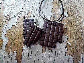 Náušnice - čokoládky (čoko sada) - 8567935_