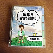 """Papiernictvo - Ja som awesome ,,všetkozošit"""" (lúka - natur) - 8566543_"""