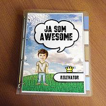 """Papiernictvo - Ja som awesome ,,všetkozošit"""" (lúka - jednoducho chlapík) - 8566556_"""
