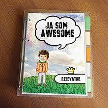 """Papiernictvo - Ja som awesome ,,všetkozošit"""" (lúka - elegán) - 8566557_"""