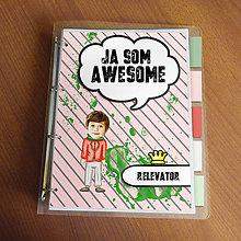 """Papiernictvo - Ja som awesome ,,všetkozošit"""" (pásiky a machule - v štýle a v teple) - 8567163_"""