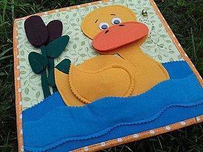 Detské doplnky - Samostatná QB stránka-kačička a labut - 8571512_
