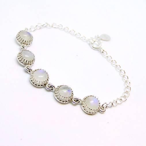 Moonstone Silver Bracelet ag 925   Detský strieborný náramok s mesačným  kameňom 8dfa7a37d32