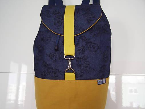 1d98dcba51 Ruksak - horčicovo - žltá - modrá   jamilla - SAShE.sk - Handmade Batohy