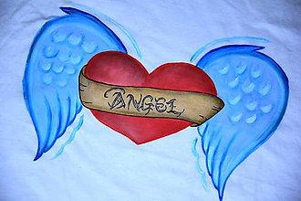 Tričká - Srdce pre anjela - 8570436_