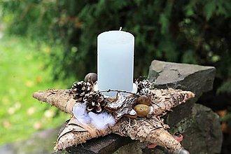 Dekorácie - Vianočný svietnik - 8572077_