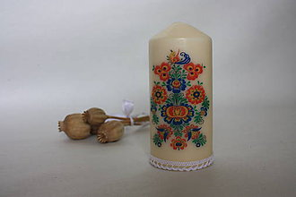 Svietidlá a sviečky - Sviečka - folklór - 8572238_