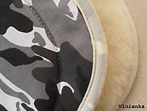 Textil - MERINO podložka do kočíka BUGABOO Bee / Buffalo/ Cameleon/ Donkey/ Joolz 100% WOOL Seat Liner Camouflage Black ARMY - 8568875_