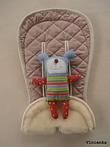 Textil - MERINO podložka do kočíka BUGABOO Bee / Buffalo/ Cameleon/ Donkey/ Joolz 100% WOOL Seat Liner DUSTY PINK Púdrová ružová - 8568907_