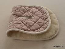 Textil - MERINO podložka do kočíka BUGABOO Bee / Buffalo/ Cameleon/ Donkey/ Joolz 100% WOOL Seat Liner DUSTY PINK Púdrová ružová - 8568917_