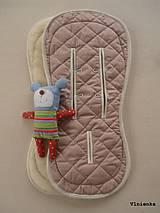 Textil - MERINO podložka do kočíka BUGABOO Bee / Buffalo/ Cameleon/ Donkey/ Joolz 100% WOOL Seat Liner DUSTY PINK Púdrová ružová - 8568920_