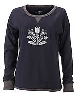 Mikiny - Mikina kvety  - ľudový motív - rôzne farby - 8570601_