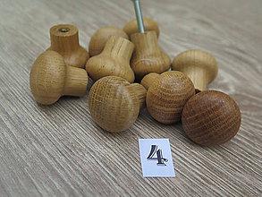 Dekorácie - Nábytková úchytka drevená 4 - 8571778_