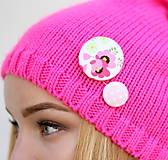 - Ružová Barbie gombíková dvojka - 8572397_