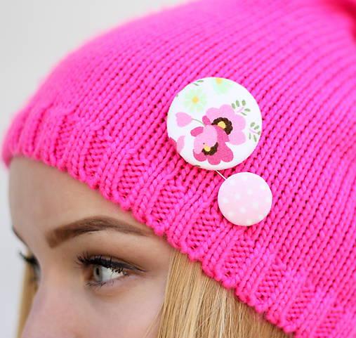 Ružová Barbie gombíková dvojka