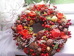 """Dekorácie - Jesenný veniec na dvere """"...slnečné lúče v kvietkoch ukryté ..."""" - 8569021_"""