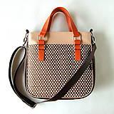 Veľké tašky - Big Sandy - Tmavohnedá s bodkami - 8569578_