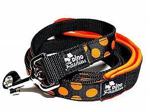 Pre zvieratká - Vodítko Oranžová bodka se softshellom - 8569282_
