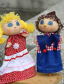 Hračky - Maňuška. Bábky Janko a Marienka. - 8570566_