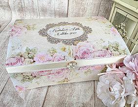 Krabičky - Svadobná truhlica - 8569214_