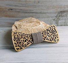 """Detské doplnky - Detský drevený motýlik """"Láska"""" (hnedý) - 8569331_"""