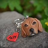 Kľúčenky - Beagle - kľúčenka podľa fotografie - 8570210_