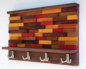 Nábytok - Závesný drevený vešiak ABSTRACT - 8572587_