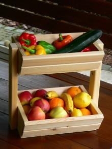 Nábytok - Drevený stojan na ovocie - 8572666_