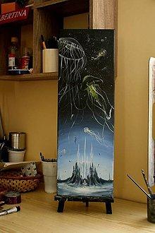 Obrazy - Mesto medúz - ORIGINAL - 8570403_