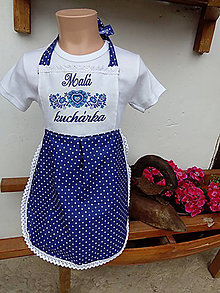 Detské oblečenie - Folk zásterka - malá kuchárka - 8570944_