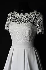 - Svadobné šaty so skladanou sukňou - 8570525_