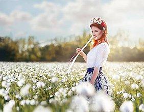 Sukne - Spoločenská sukňa so vzorom rôzne farby - 8569418_