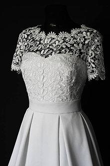 Šaty - Svadobné šaty so skladanou sukňou - 8570525_