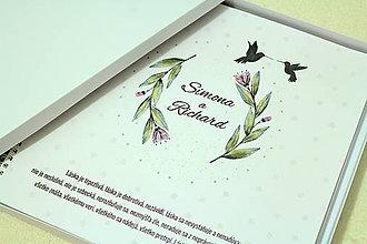 Papiernictvo - Fotoalbum Kolibríky (v darčekovej krabici) - 8570114_