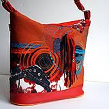 """Veľké tašky - Kabelka """"Halabala... ohnivá"""" - 8571503_"""