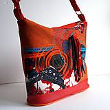 """Veľké tašky - Kabelka """"Halabala... ohnivá"""" - 8571507_"""