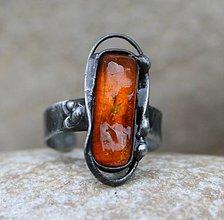 Prstene - Jantár prsteň - 8569321_