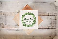 Prstene - Svadobná krabička zelený vres - 8570921_