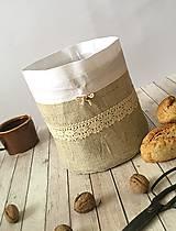Úžitkový textil - Servírovacie vrecko na chlieb a pečivo 3v1 - 8569033_